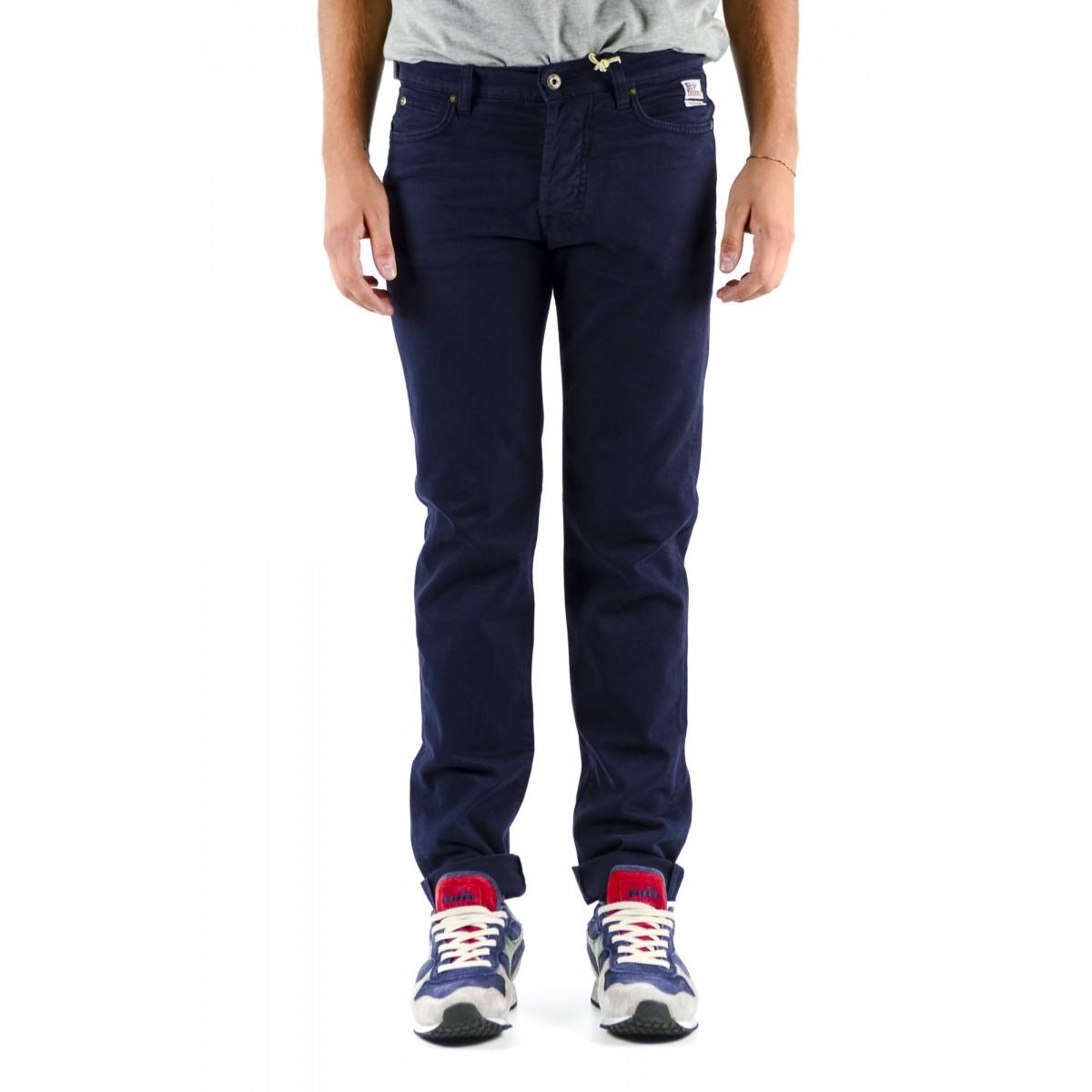 Pantalone uomo Roy rogers - Pf18 gabardina libert. winter 001 - blu